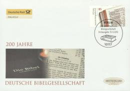 Germany 2012 - Cover: FDC - Bible, Books
