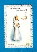 """BIDING - Image Pieuse ** RENOVATION DES VOEUX DE BAPTEME """" BIGEL Jacqueline """" Le 14 05 1967 ** - Images Religieuses"""