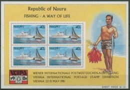 Nauru 1981 WIPA '81: Fischfang Block 4 Postfrisch (C72932)