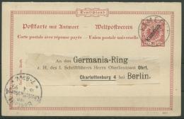 Kamerun 1897 Postkarte Mit Antwort P 4 Blanko, Gestempelt (X14309) - Kolonie: Kamerun