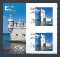 Tower Of Belém, Lisbon.Set Of Two Stickers Stickers.Unesco Heritage.Architecture D. Manuel I. Seaplane Gago Coutinho.