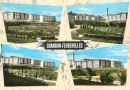 """/ CPSM FRANCE 42 """"Chambon Feugerolles, Quartier Du Bouchet"""" - Le Chambon Feugerolles"""