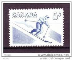 Canada, 1957, #368, Nage, Ski, Skiing