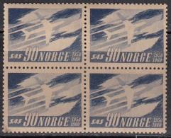 Norway MNH 1961, Block Of 4, SAS, Scandinavian Airlines, Aviation, Airplane, As Scan