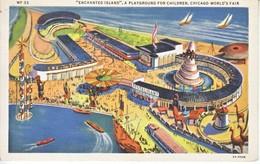 U.S.   CENTURY  OF  PROGRESS  1933  (o)  ENCHANTED  ISLAND  W/  EXPO. Cd. - Universal Expositions