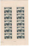 Full Sheet Of France 1947 UPU Congress Scott C22 YT Poste Aerienne 20 Airmail MInt MNH 600 Euro