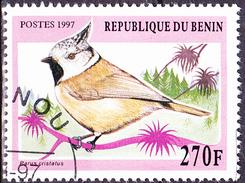 Benin - Haubenmeise (Parus Cristatus)  (MiNr: 960) 1997 - Gest Used Obl - Benin - Dahomey (1960-...)