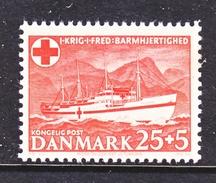 DENMARK  B 19   **     RED  CROSS  SHIP - Red Cross