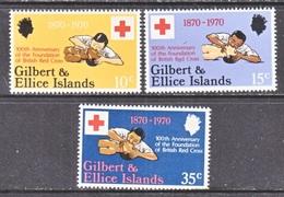 GILBERT & ELLICE  ISLANDS  159-61   **     RED  CROSS - Gilbert & Ellice Islands (...-1979)