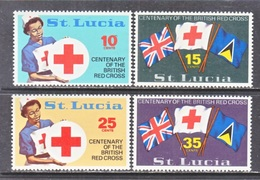 ST.  LUCIA  282-5   **     BRITISH  RED  CROSS  FLAGS - St.Lucia (1979-...)