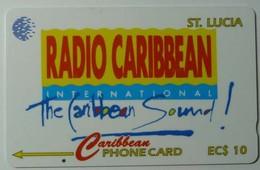 SAINT LUCIA - GPT  - $10 - Specimen - Radio Caribbean - Saint Lucia