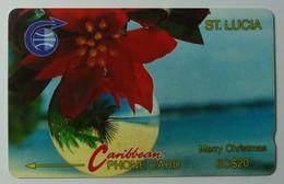 SAINT LUCIA - GPT  - $20 - 5CSLA - Merry Christmas - STL-5A - 7500ex - Used - Saint Lucia