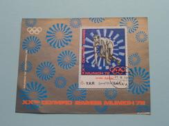 XXth POLYMPIC GAMES MUNICH 1972 ( Details, Zie Foto's Met Vergrotingen ) ! - Yemen