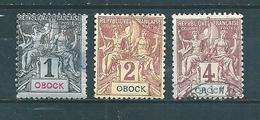 Colonies   Timbres D´Obock  De 1892  N°32 A 34  Oblitérés - Obock (1892-1899)