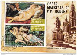 73102 Guinea Equatoriale 1973 Nude Art Paintings Quadri Dipinti Da P.P. Rubens Tableaux