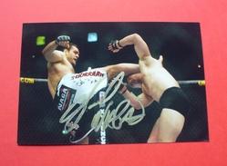 MMA (mixed Martial Arts) , Autograph NAGA WARRIOR --- Signature --- 35 - Sports De Combat