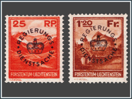 Liechtenstein SV 0009/10* Surchargé  H - Neufs