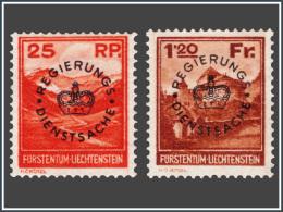 Liechtenstein SV 0009/10* Surchargé  H