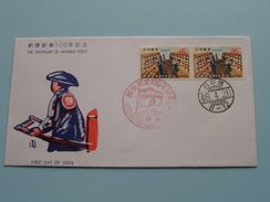 100 The CENTENARY Of JAPANESE POSTS 46-4-20 ( The Society For Promotion Of Philately / See Photo ) ! - FDC