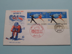 XI OLYMPIC WINTER GAMES SAPPORO '72 (47-2-3 ) ( The Society For Promotion Of Philately ) ! - FDC