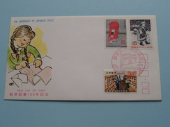The CENTENARY Of JAPANESE POSTS 100 / 46-4-20 ( The Society For Promotion Of Philately ) ! - FDC