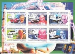 Guinee  2009  Worldwide  Bosses Of Motor Car Industry At New Delhi  India Summit  6v  MNH Sheet #  93792