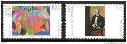 Allemagne Deutschland 2143/44 Peintures , Max Beckmman , Adolf Hölzel