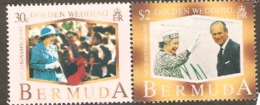 Bermuda 1997 SG 778-9 Golden Wedding Unmounted Mint