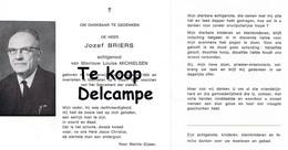 Bidprentje Briers Jozef (x Louisa Michielsen ) , Noorderwijk - Mechelen - Religion & Esotérisme