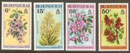 British Honduras 1972 SG 324-7 Easter Flowers Unmounted Mint - British Honduras (...-1970)