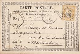 TARN ET GARONNE CPP 1874 NEGREPELISSE / LEX .M CONVOYEUR STATION INDICE 14 = 120 EUROS - Postmark Collection (Covers)