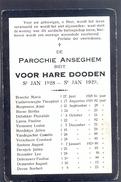 ANZEGEM - ANSEGHEM - Voor Hare Dooden St. Jan 1928-1929 - Devotion Images
