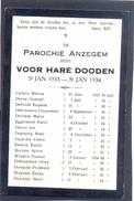 ANZEGEM - ANSEGHEM - Voor Hare Dooden St. Jan  -1933-1934 - Devotion Images