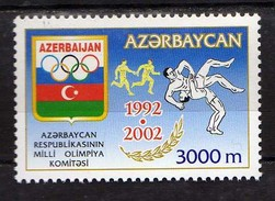 Azerbaijan 2002 The 10th Anniversary Of National Olympic Committee.MNH - Azerbaïjan