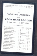 ANZEGEM - ANSEGHEM - Voor Hare Dooden St. Jan  -1934-1935 - Devotion Images