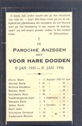 ANZEGEM - ANSEGHEM - Voor Hare Dooden St. Jan  -1935-1936 - Devotion Images