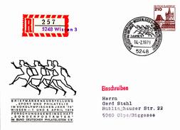 """NPU 122/5   Briefmarkenausstellung """"Sport Und Philatelie WIssen -  Einschreiben - BRD"""