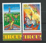 Azerbaijan 2002 EUROPA CEPT - Circus.MNH - Azerbaïjan