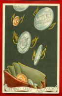 ESTONIA Happy New Year MONEY COINS VINTAGE POSTCARD 4403 - Neujahr