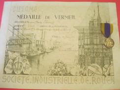 Diplôme/Société Industrielle De Rouen/ Médaille De Vermeil/30 Ans De Collaboration/Avec La Vraie Médaille/1948    DIP174 - Diplomi E Pagelle