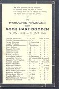 ANZEGEM - ANSEGHEM - Voor Hare Dooden St. Jan  -1939-1940 - Devotion Images