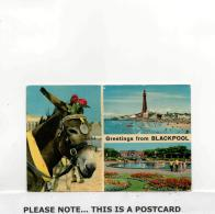 Postcard - Blackpool - Three Views - Posted But Date Obscured Very Good - Postales