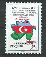 """Azerbaijan 2002 The 10th Ann. Of Stamp Company - Issue Of 1992 Overprinted """"Azermarka 1992-2002 1000m"""" & Surcharged.MNH - Azerbaïjan"""