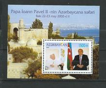 Azerbaijan 2002 Pope John Paul II's Visit To Azerbaijan.S/S.MNH - Azerbaïjan