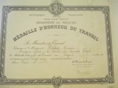 Diplôme/Médaille D'Honneur Du Travail/Ministére Du Travail/Argent/25 Ans/Société Des Procédés Dorel/BODIER/1963   DIP175 - Diplomi E Pagelle