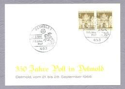 Germany, Deutschland, 1966, 350 Jahre Post In Detmold Ganzsache Detmold Sonderstempel