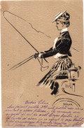 HEYER - Femme Cochere - CPA Gaufrée   (95157) - Otros Ilustradores