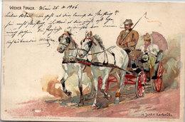 H. JUNKER - Attelage   (95159) - Autres Illustrateurs