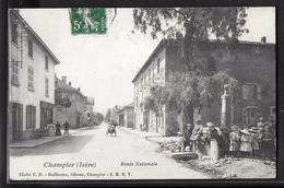 CPA 38 - Champier, Route Nationale - Sonstige Gemeinden