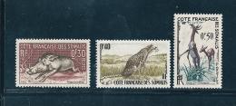 Timbres Des Cote De Somalis   De 1956  N°287 A 289   Neuf ** - French Somali Coast (1894-1967)